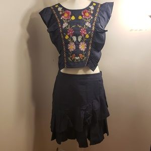 Dresses & Skirts - Mexican Embroidered 2-piece set